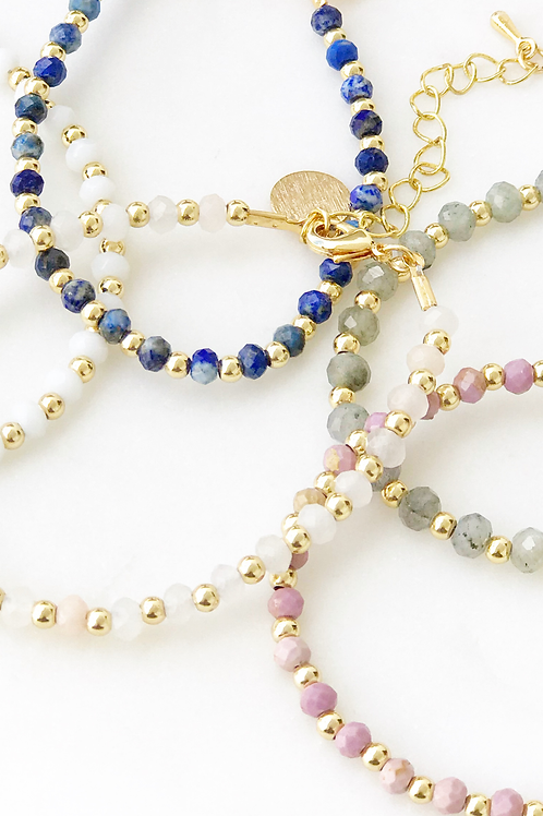 The Lucky Collective Faceted Stone Bracelet