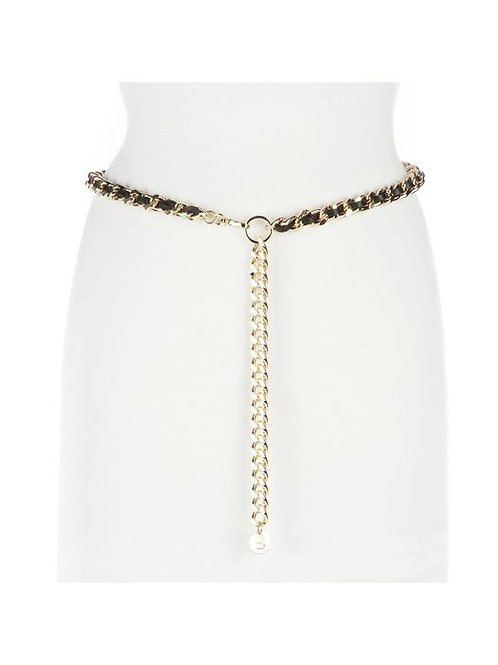 Brave Leather Doone Leather Chain Belt