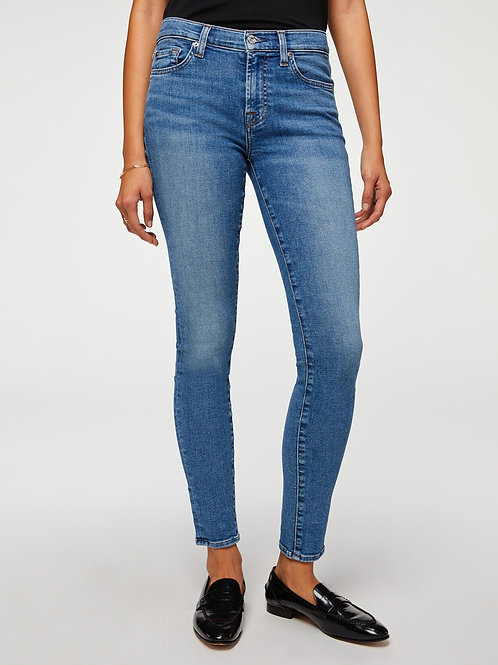 7 for All Mankind Skinny Jean in Sunlight Blue