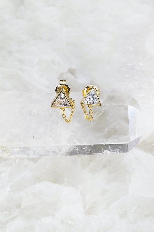 Native Gem Petra Chain Earrings