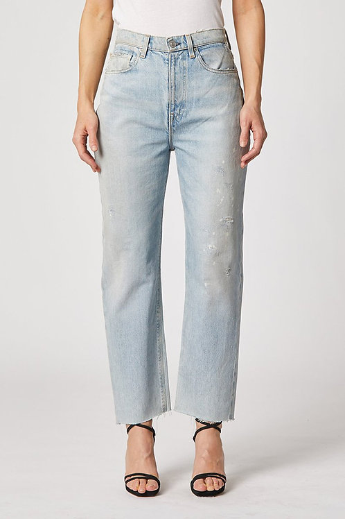 Hudson Elly Extended High-Rise Tapered Crop Jean in Verge