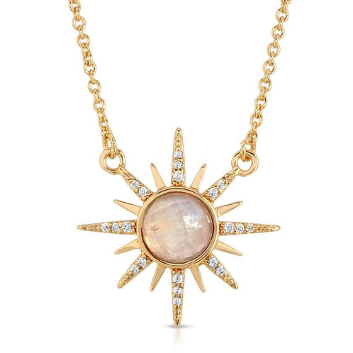 Elizabeth Stone Gemstone Starbust Necklace