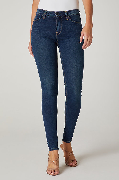Hudson Nico Mid-Rise Super Skinny Jean in Obscurity