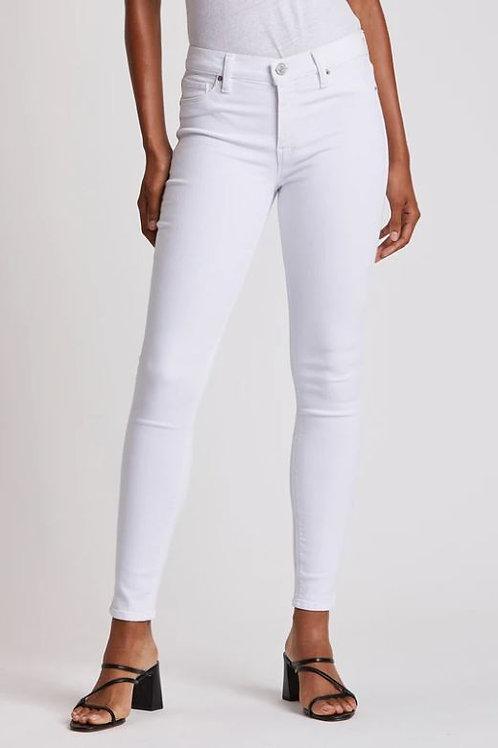 Hudson Nico Mid-Rise Super Skinny Ankle Jean in White