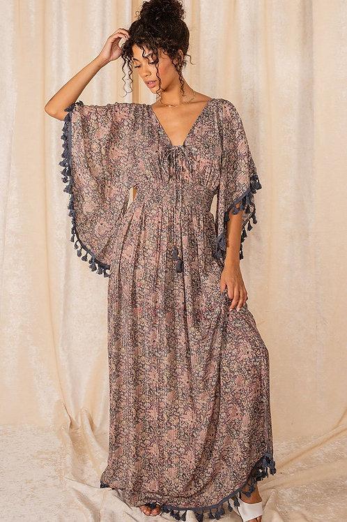 RAGA Kassie Tassel Maxi Dress