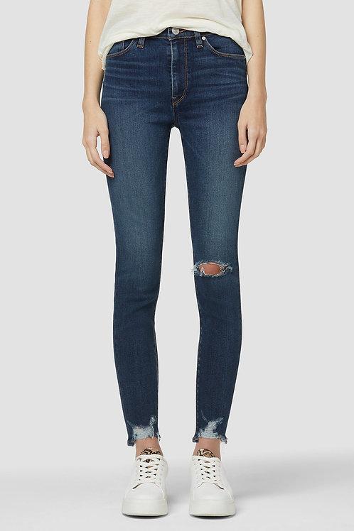 Hudson Barbara High-Rise Super Skinny Ankle Jean in Suddenly