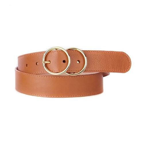 Brave Leather Yaholo Double Circle Leather Belt