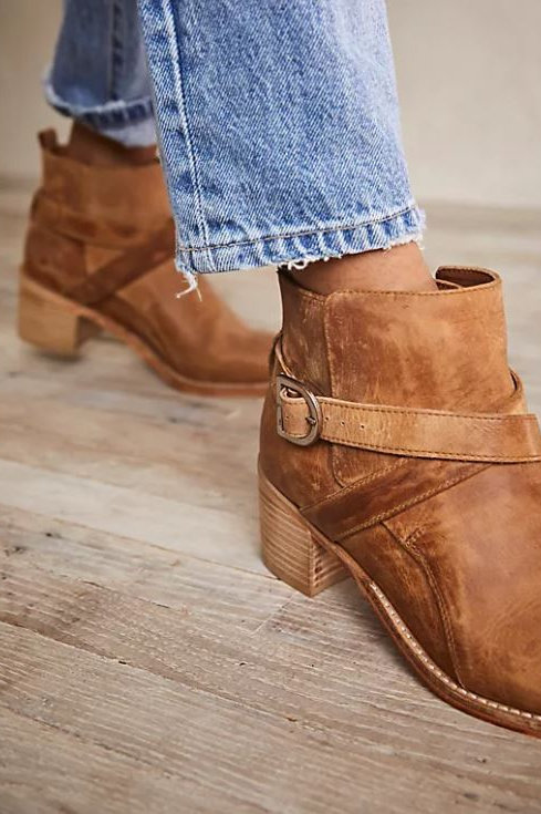 Free People Back Loop Ankle Boots