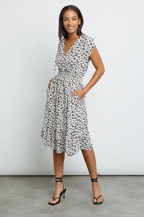 Rails Ashlyn Midi Dress in Ivory Floral Cheetah