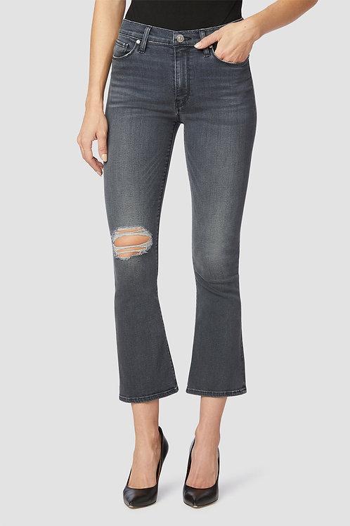 Hudson Barbara High-Rise Bootcut Crop Jean in Destructed Harvest Moon
