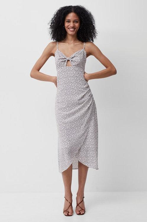 French Connection Aura Ditsy Verona Tie Midi Dress