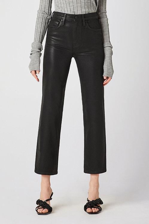 Hudson Remi High-Rise Straight Crop Jean in High Shine Black