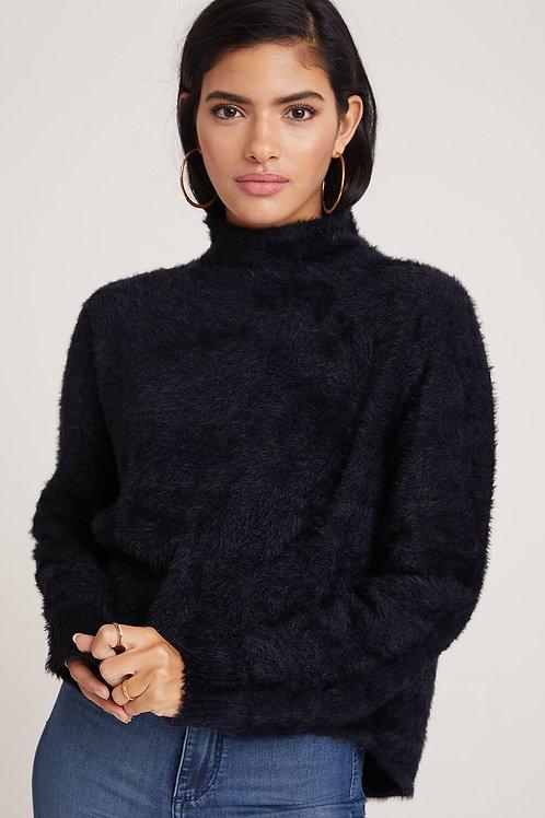 Bella Dahl Mock Neck Fuzzy Knit Sweater