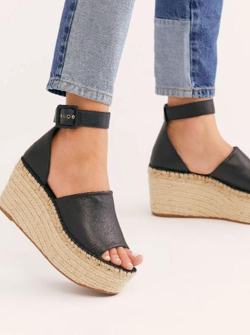 Free People Coastal Platform Wedge Sandals
