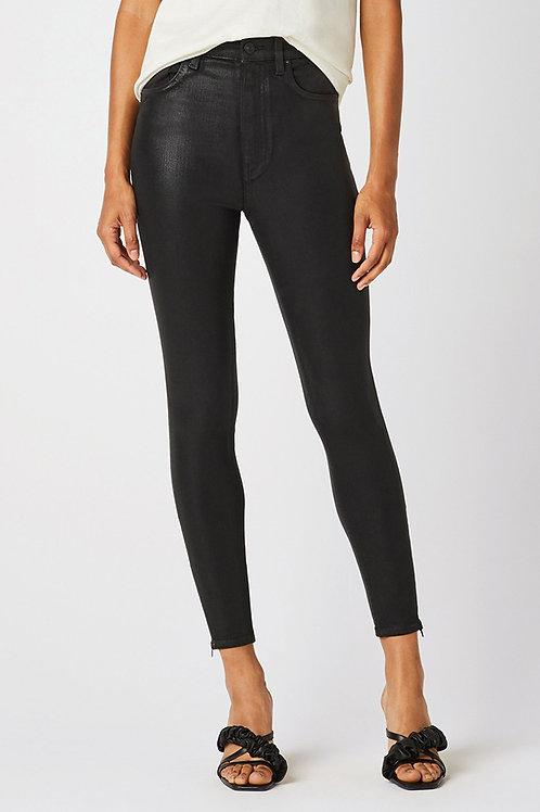 Hudson Centerfold Extreme High-Rise Super Skinny Jean in High Shine Black