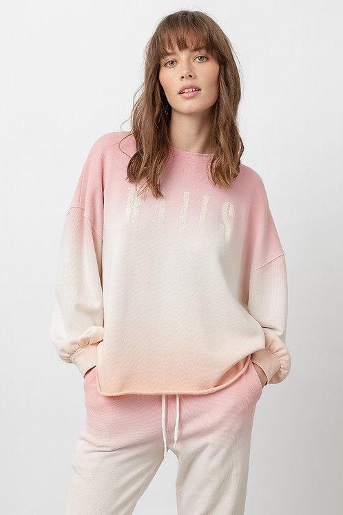 Rails Signature Sweatshirt in Pink Peach Dip Dye