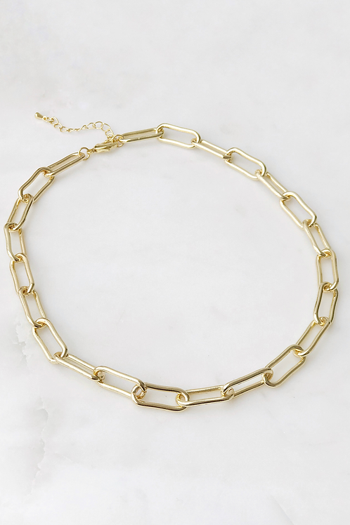 """The Lucky Collective Chunky Single Chain Necklace 16"""""""
