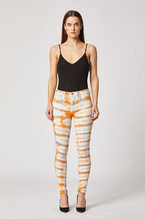 Hudson Barbara High-Rise Super Skinny Ankle Jean in Magnetic Tangerine