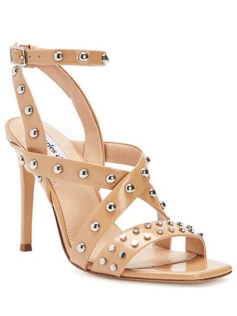 Charles David Velocity Stud Leather Pump in Nude