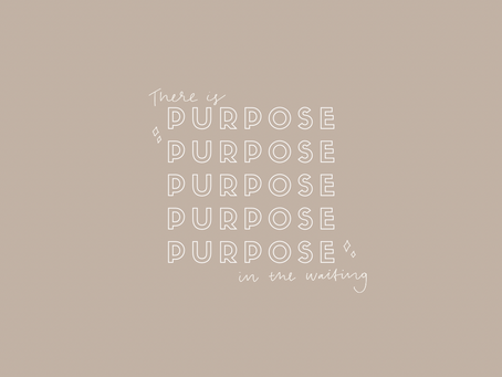 there is purpose in the waiting