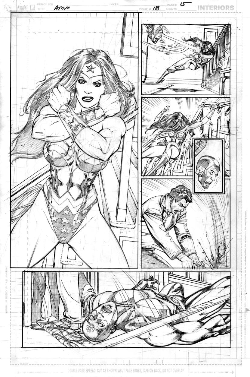 Atom #6 page 15 pencils