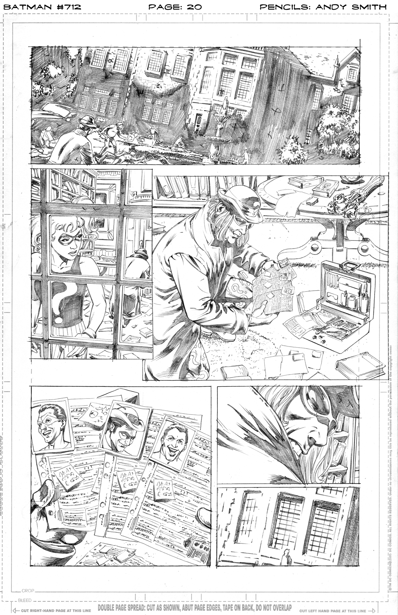 Batman 712 page 20 pencils