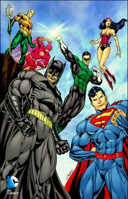 Justice League pin-up