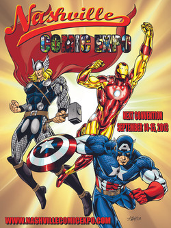 Nashville Comic Expo 2013 poster