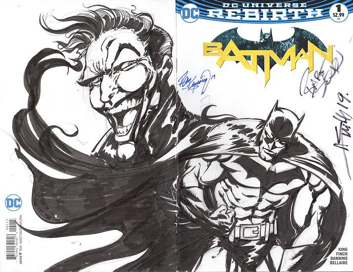 Batman Rebirth #1 Sketch cover