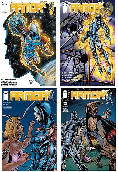 Armor X comic book issues 1-4 set