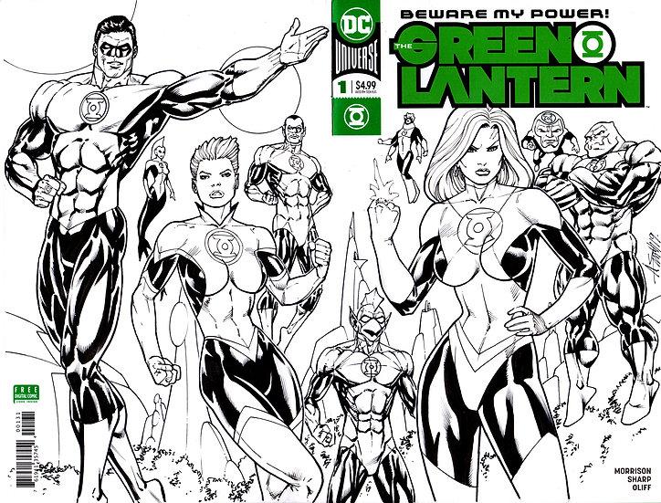 Green Lantern #1 Sketch cover