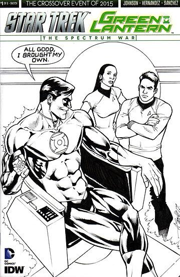 Star Trek Green Lantern original art sketch cover