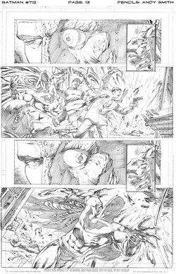 Batman 712 page 13 pencils
