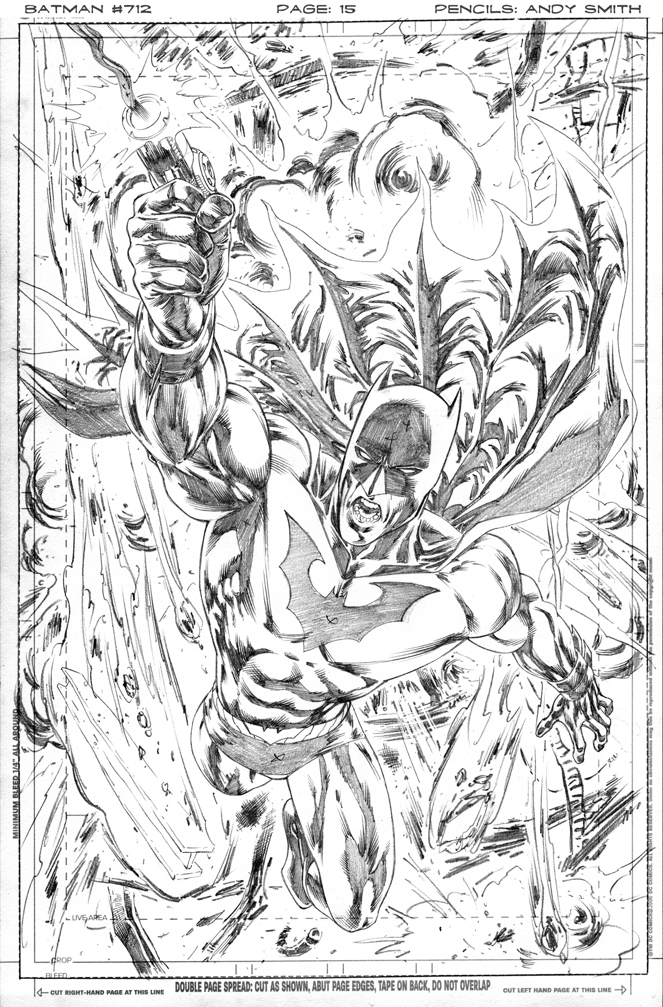 Batman 712 page 15 pencils