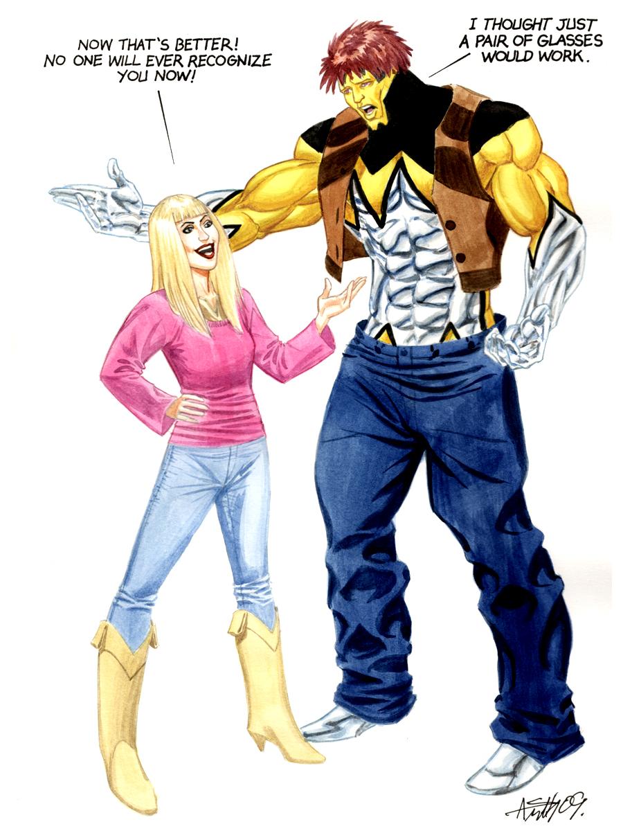 1stMan and Hannah Montana
