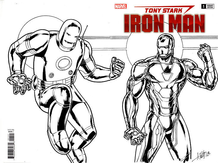 Tony Stark Iron Man sketch cover