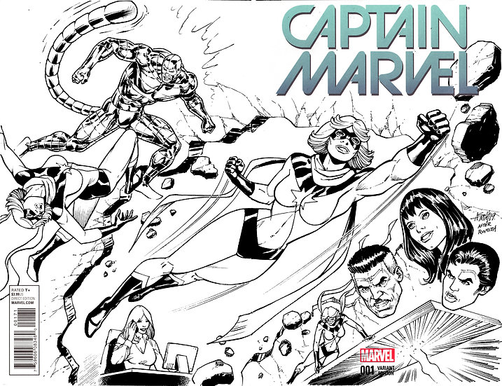 Captain Marvel Sketch Cover