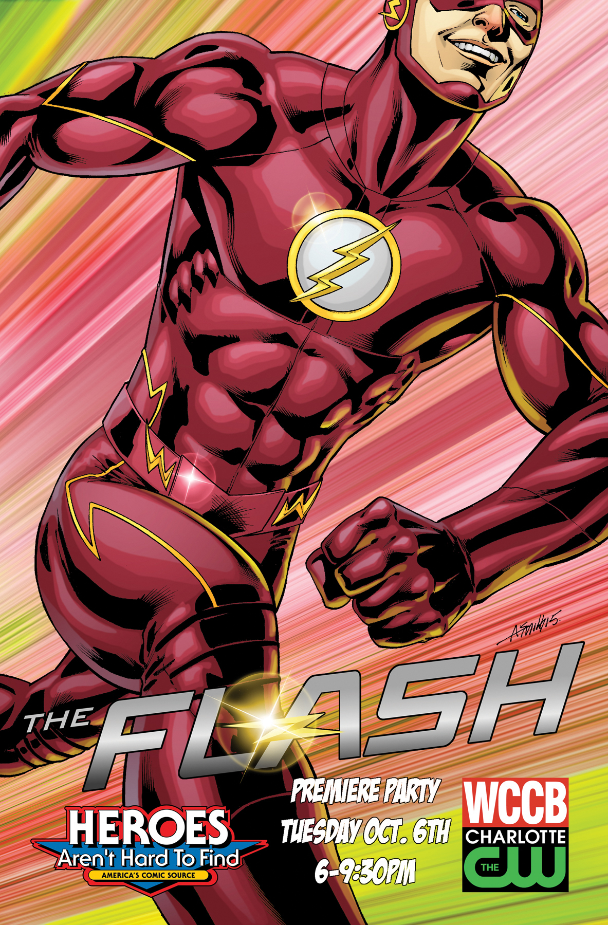 Flash TV poster for Season Premier party