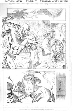 Batman 712 page 17 pencils