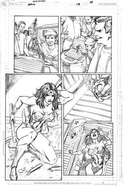 Atom #6 page 18 pencils