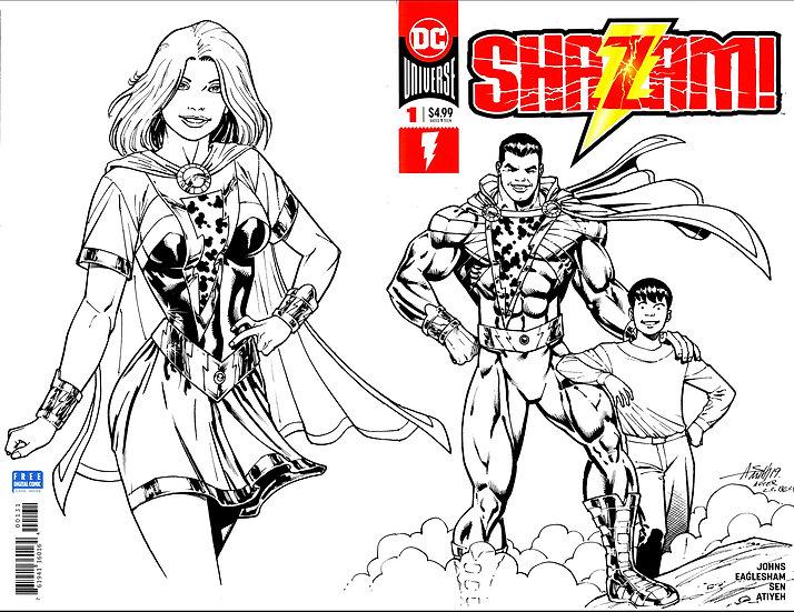 Shazam sketch cover