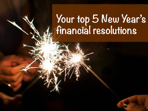 Your top five New Year's financial resolutions