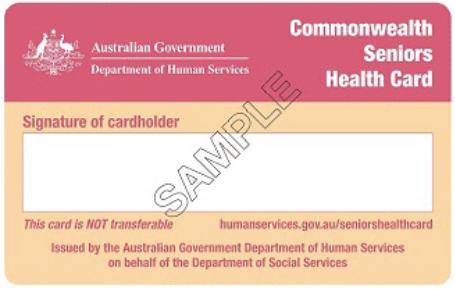 commonwealth seniors health card