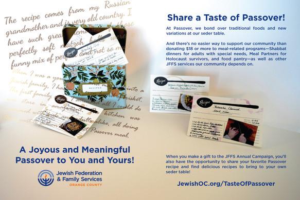 JLife Passover Recipes Spread 2019