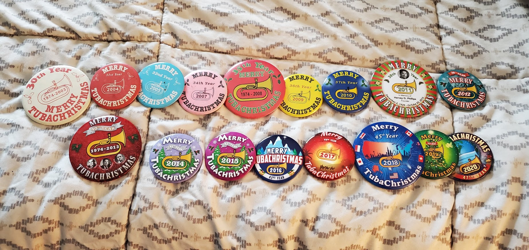 2003 - 2020 Buttons! Missing a few.