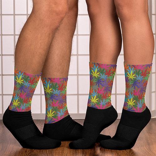 90 to Zambo Marijuana Print Socks