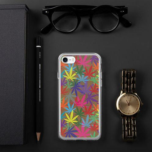 90 to Zambo Marijuana Print iPhone Case