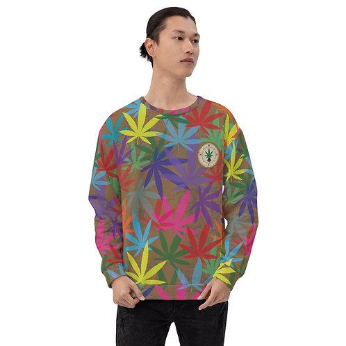 90 to Zambo Marijuana Print Unisex Sweatshirt