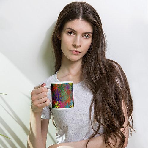 90 to Zambo Marijuana Print White glossy mug
