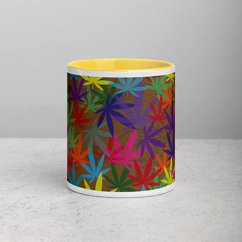 90 to Zambo Marijuana Print Mug with Color Inside